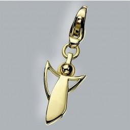Schutzengel Charm 750 Gold poliert