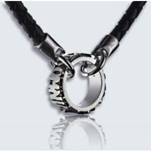 anello con collier omnia relief argento 45cm