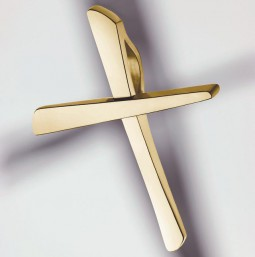 Croce 750/- Oro giallo lucido - piccola