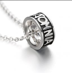 Bague Omnia Baptême - argent 925 avec collier en argent