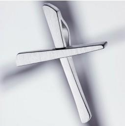 Croix Pendentif 925 argent mat