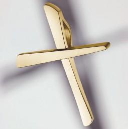 Croix Pendentif 585 or jaune poli