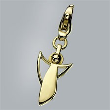 guardian angel charm pendant 750 yellow gold polished small