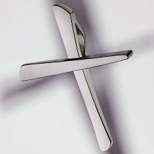 cross pendant 950 platinum polished small small