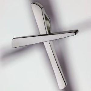 cross pendant 950 platinum polished small