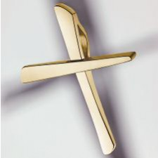 cross pendant 750 yellow gold polished small