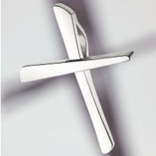 cross pendant 750 white gold polished small