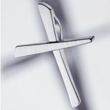 cross pendant 925 silver brushed small
