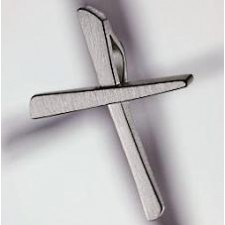 cross pendant 950 platinum brushed small