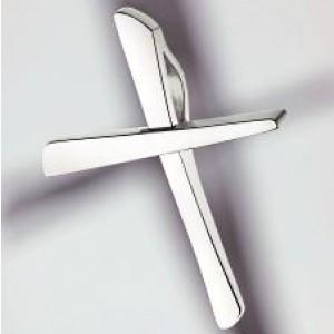 cruz colgante oro blanco 750