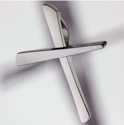 Cross pendant platinum 950 polished - small
