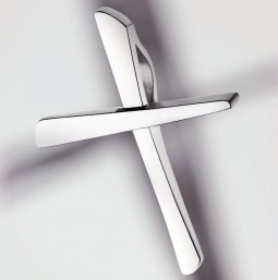 Cross pendant silver 925 polished - small