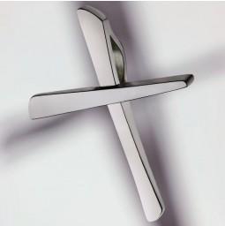 Cruz 950/- platino brillo - pequeña