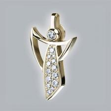 ángel brillantes colgante oro amarillo 750/-