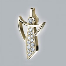 diamonds pendant gold 750