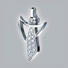 brillants pendant white gold 750